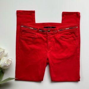 Joe's | Red Skinny Jeans 28 W High Water Fit